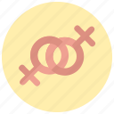 female, gay, valentine icon