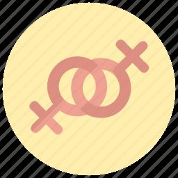 female, gay, valentine icon