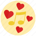 music, romantic, valentine icon