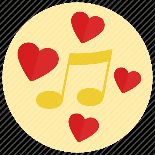 music, romantic, valentine icon