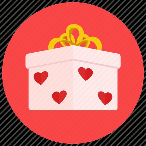 box, gift, present, romance, valentine, valentine's day icon