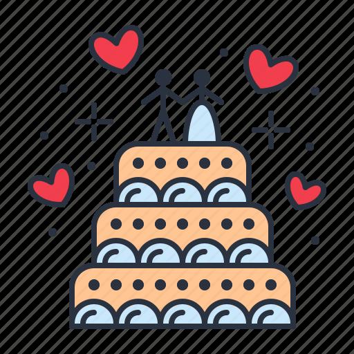 cake, love, wedding icon