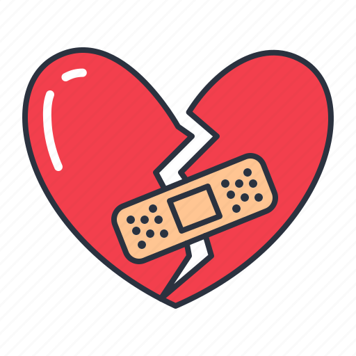Broken Heart Love Patch Icon