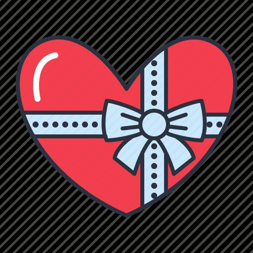 box, chocolate, heart, shaped icon