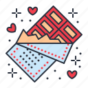chocolate, love, sweets, valentine icon