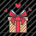 gift, love, present, valentine