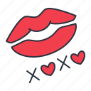hugs, kiss, kisses, xoxo icon