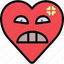 angry, emoji, emotion, heart, mad icon