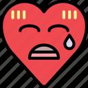 confused, emoji, emotion, heart, nervous, worry