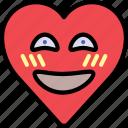 emoji, emotion, happy, heart, shy, smile icon