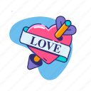 arrow, cupid, love, relationship, romantic, valentine, valentine's day icon
