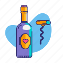 champagnes, date, dinner, drink, love, valentine, valentine's day icon