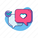 chat, flirt, love, valentine, valentine's day icon