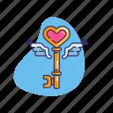 commitment, key, lock, love, relationship, valentine, valentine's day