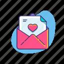 envelope, letter, love, mail, valentine, valentine's day, wedding invitation icon