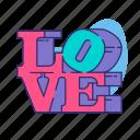love, love statue, robert indiana, valentine, valentine's day, words icon