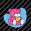 cute, love, teddy bear, toy, valentine, valentine's day icon