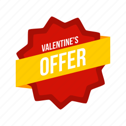 day, offer, ribbon, sale, tag, valentine, valentines icon