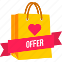bag, carry, cart, offer, online, sale, shopping icon
