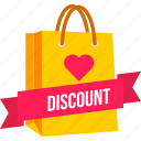 bag, carry, cart, discount, offer, online, shopping icon
