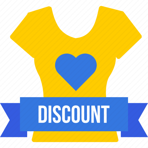 Discount, ribbon, shop, shopping, top, tshirt, women icon - Download on Iconfinder