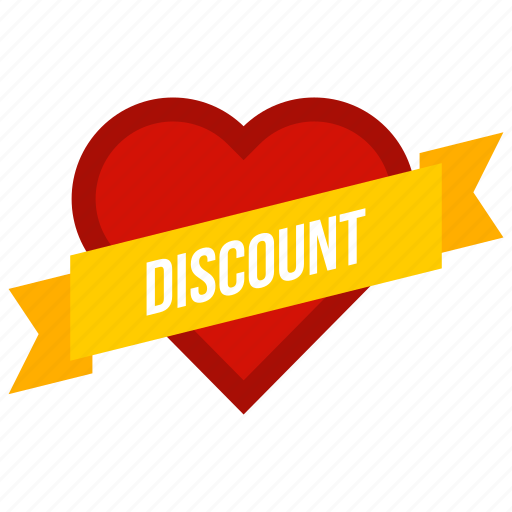 Day, discount, heart, label, offer, ribbon, valentine icon - Download on Iconfinder