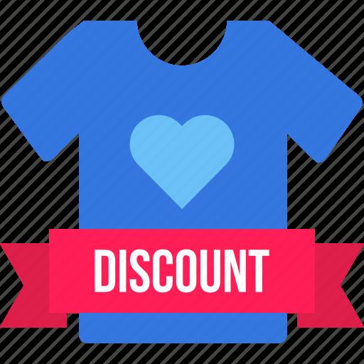 discount, men, offer, sale, shopping, tshirt, valentine icon