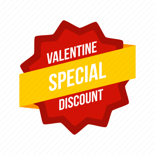 discount, label, offer, special, sticker, tag, valentine icon