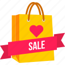 bag, carry, cart, offer, shopping, valentine