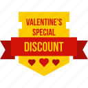 discount, offer, sale, shop, shopping, valentine, valentines icon