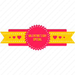 day, gift, ribbon, special, surprise, valentine, valentines icon