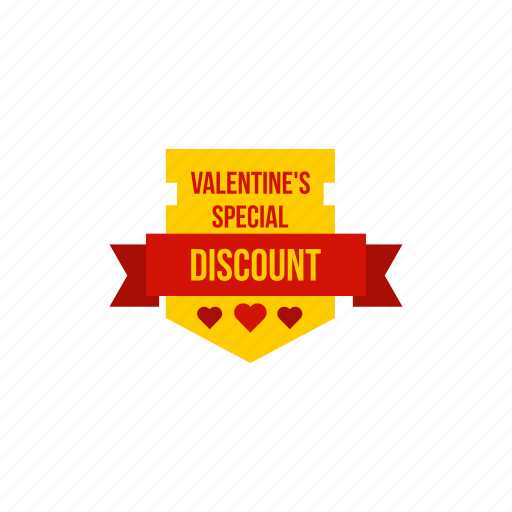 discount, offer, ribbon, special, valentine, valentines icon
