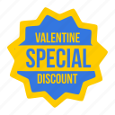 discount, label, offer, special, tag, valentine, valentines icon