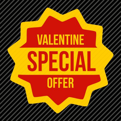 discount, label, offer, special, sticker, valentine, valentines icon