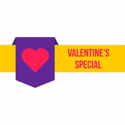 discount, label, offer, ribbon, special, tag, valentine icon