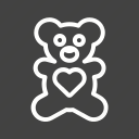 bear, gift, stuffed, toy, valentine icon