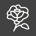 bloom, flower, fragrance, plant, rose icon
