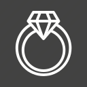 diamond, engagement, gift, ring, valentine icon