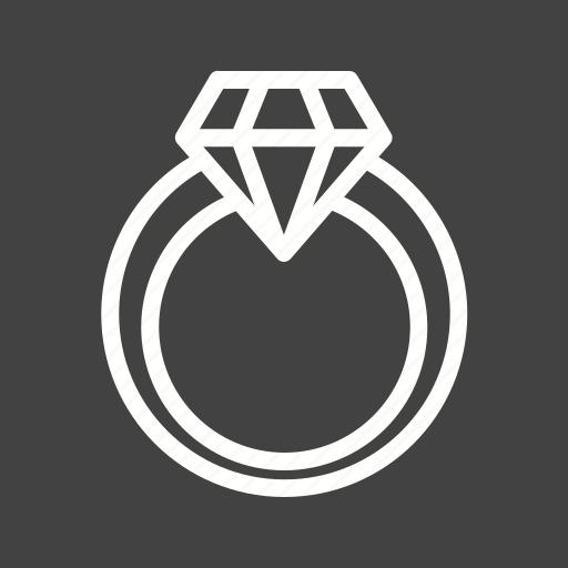 diamond, engagement, gift, ring, valentine icon