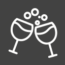 celebrations, cocktail, drinks, party, valentine, vine icon