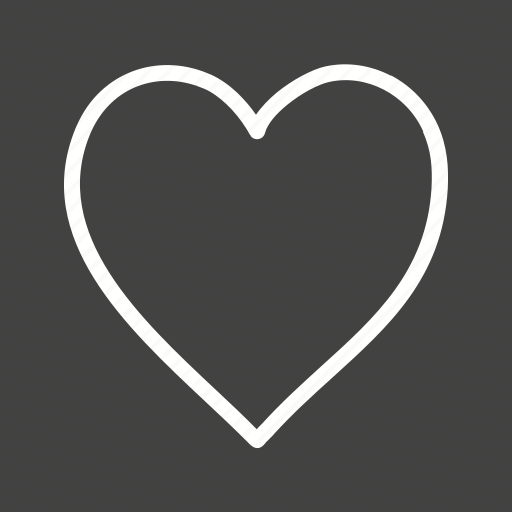 heart, love, of, sign, single, valentine icon