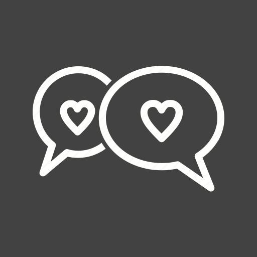 bubbles, chat, conversation, heart icon