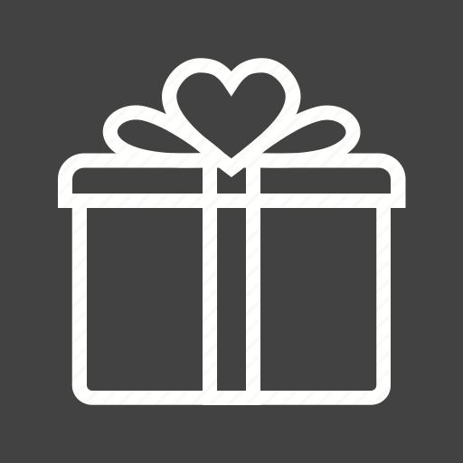 birthday, box, gift, present, valentine icon