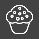 birthday, cake, cupcake, delight, sweet icon