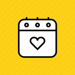 calendar, day, event, love, romance, valentines, wedding icon