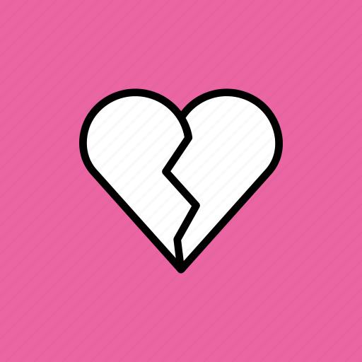 break, breakup, heart, love, romance, up, valentines icon