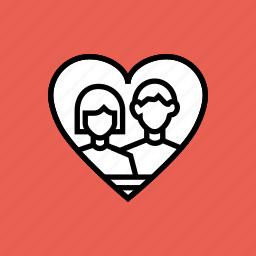 couple, day, heart, love, photo, romance, valentines icon