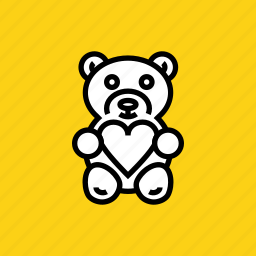 bear, day, gift, love, romance, teddy, valentines icon