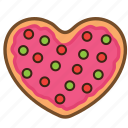 cookie, love, pastrie, snack, sugar, sweet, valentine icon
