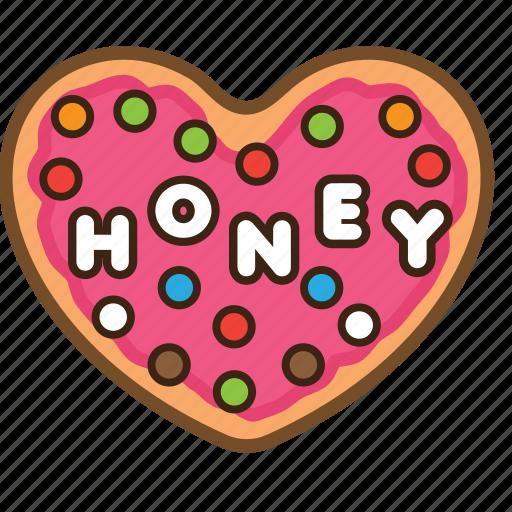 cookie, love, pastrie, snack, sugar, sweet, valentine icon